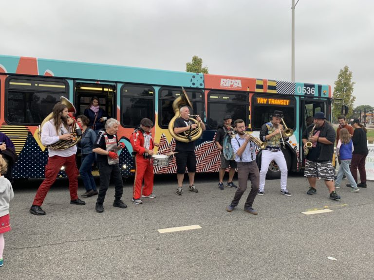 """Unveiling the """"PRONK"""" art bus at PRONK"""