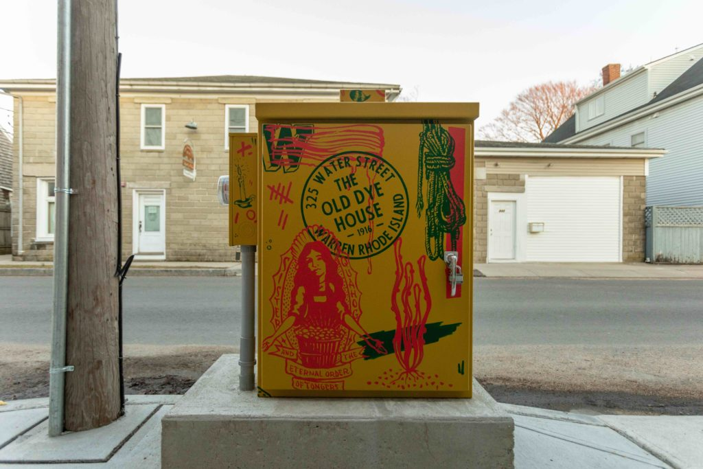 A painted electrical box on Water St. in Warren, RI