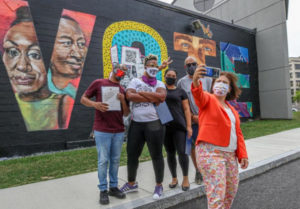 VOTE Mural Artists with RI Secretary of State